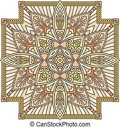 Abstract vector colored square lace