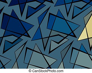 Abstract vector colorful background of broken lines