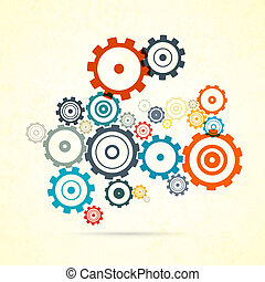 Abstract vector colorful cogs - gears