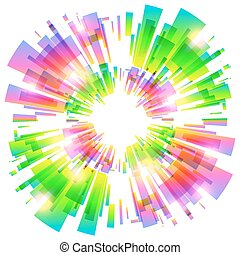 Abstract vector colorful explosion