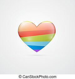 Abstract Vector Colorful Heart