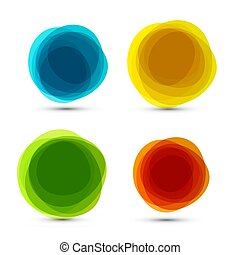 Abstract Vector Colorful Shapes Set Isolated on White Background