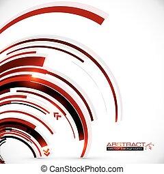 Abstract vector dark red spiral background