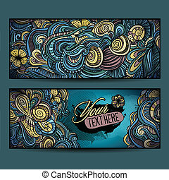 Abstract vector decorative ethnic ornamental backgrounds