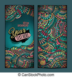 Abstract vector decorative ethnic ornamental backgrounds.