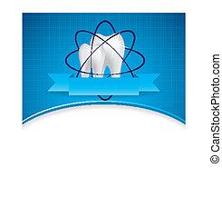 Abstract vector dental illustration of teeth