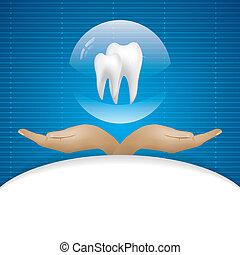 Abstract vector dental illustration