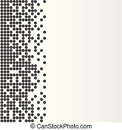 Abstract vector design background with empty copy space graphic template