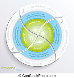 Abstract vector design circle infographic