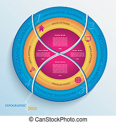 Abstract vector design circle infographic with four segments