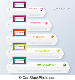 Abstract vector design infographic with numbers