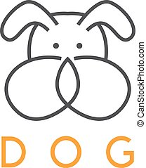 abstract vector design template of dog head