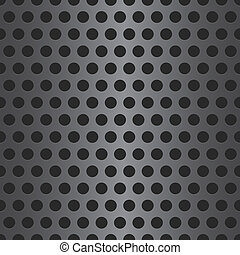 Abstract Vector Dotted Seamless Steel Background