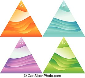 abstract, vector, driehoek, banieren, set