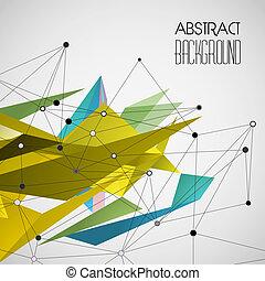 abstract, vector, driehoek, geometrisch, achtergrond
