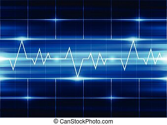 abstract vector electrocardiogram background illustration
