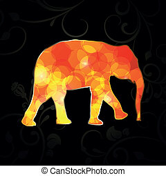 Abstract Vector Elephant
