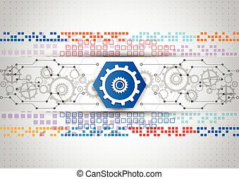abstract vector engineering technology background design