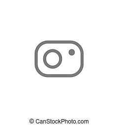 Abstract vector flat design photo camera icon