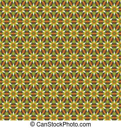 Abstract vector floral ethnic background