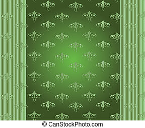Abstract vector floral ornamental