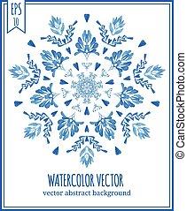 Abstract vector floral ornamental border.