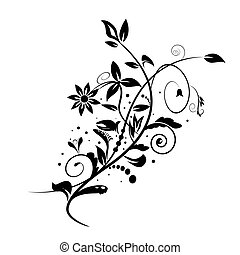 Abstract vector floral shape isolated on white