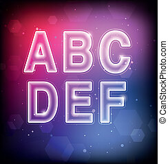 Abstract Vector Font A-F
