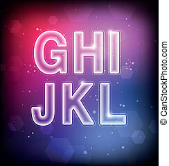 Abstract Vector Font G-L
