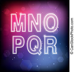 Abstract Vector Font M-R