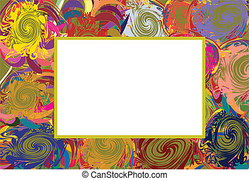 Abstract vector frame