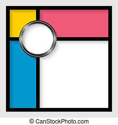 abstract vector frames for text