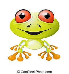 Abstract Vector Frog Illustration Isolated on White Background