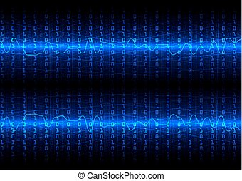 abstract vector future technology with binary code  concept background.