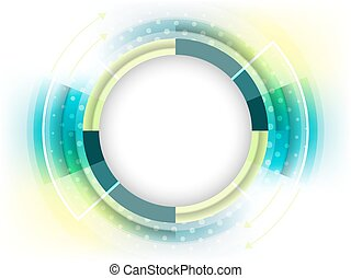 Abstract vector futuristic background with place for your content.