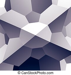Abstract vector geometric 3D background, complicated science neutral illustration.