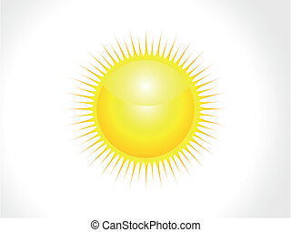 abstract, vector, glanzend, zon