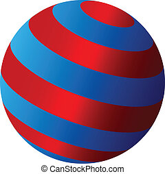 abstract, vector, globe