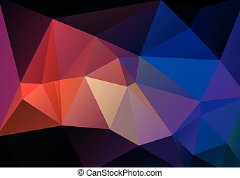 Abstract vector gradient background. Polygonal background in...