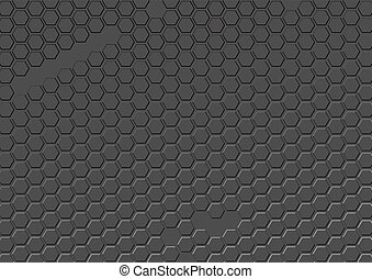 Abstract vector gray background of repeating hexagons