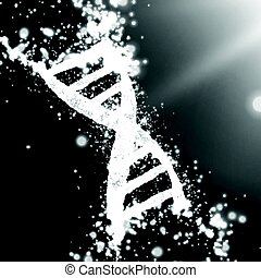 Abstract vector grayscale point mesh background. Part of DNA thread in monochrome. Futuristic medicine style card. Elegant background for business presentations.