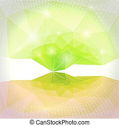 Abstract vector green background. M
