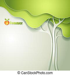 Abstract vector GREEN eco
