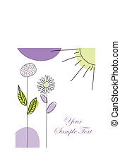 greetings card - Abstract vector greetings card for design ...