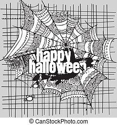 Abstract vector Halloween grunge design card