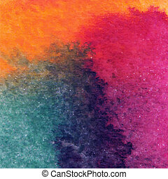 abstract vector hand drawn watercolor background, stain watercolors colors wet on wet paper