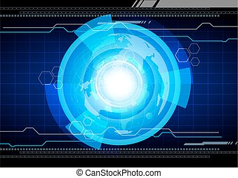 abstract vector hi technology background illustration