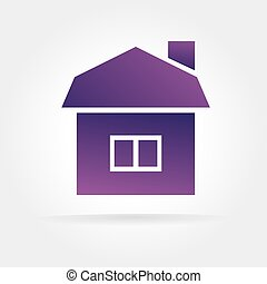 Abstract vector house icon concept isolated on white...