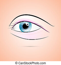 Abstract Vector Human Blue Eye