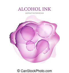 Abstract vector illustration. Alcohol ink.